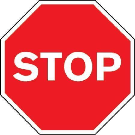 Stop Class 2 Sign
