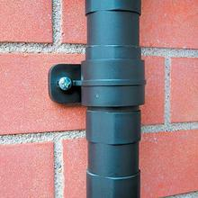 Uprights can be fitted to a wall with brackets