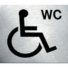 Disabled Toilet Stainless Steel Prestige Door Sign