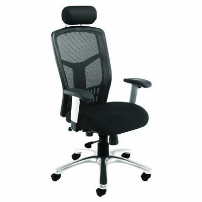 Orbit executive mesh office chair with headrest key for Chair neck support attachment uk