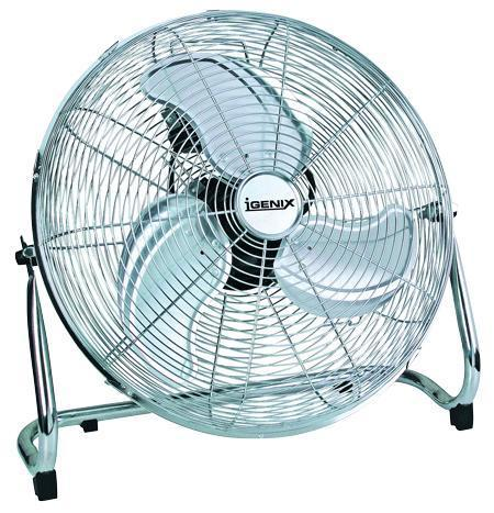 chrome high velocity floor fan 18 inch