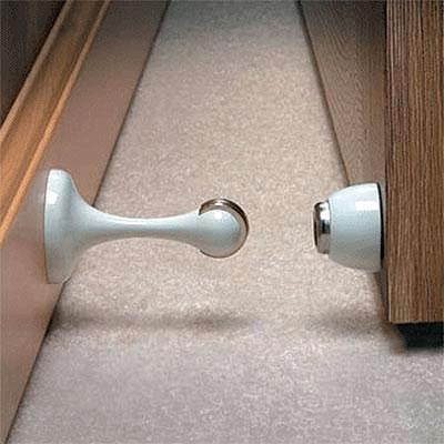 Magnetic Door Stop/Holder   88 X 44mm   White