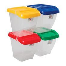 Storage Bins with Hinged Lids - 50ltr