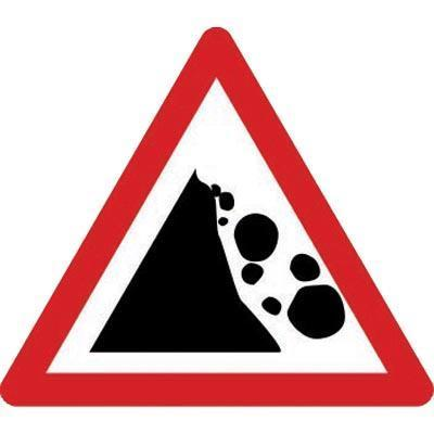 Falling/Fallen Rocks On Left Class 2 Sign