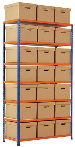 Rapid 2 Medium Duty Shelving with Archive Boxes