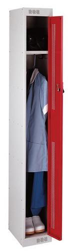 Lockers with Perforated Door - 1800x300x450mm