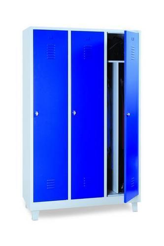 Clean & Dirty Lockers 3 Nest - Grey Body & Hasp Lock - 1900x1815x500mm