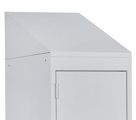 Sloping Top for the Commercial Lockers