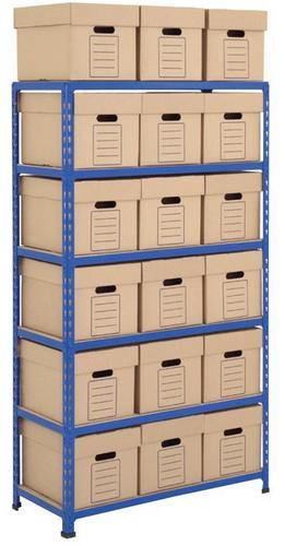 Rapid 2 Medium Duty Shelving with Economy Archive Boxes