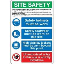 Safety Helmets Must Be Worn... Sign