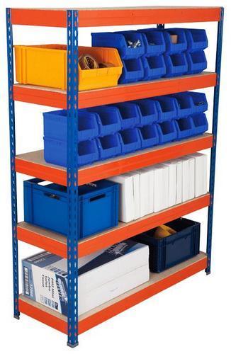 Light Duty Shelving - 2000x1200mm HxW Orange/Blue