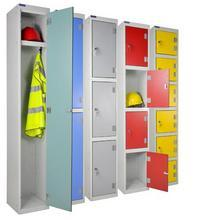 Laminate lockers open