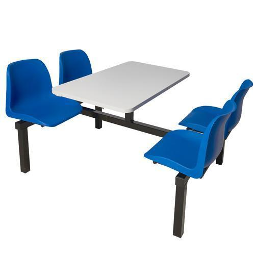 Canteen Table with Fixed Chairs