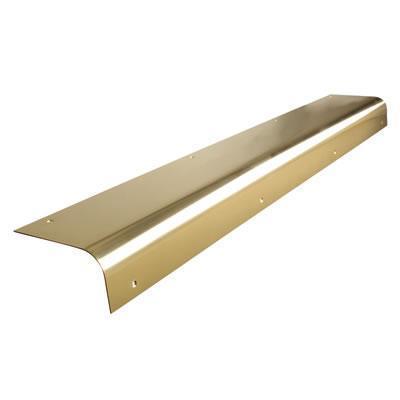 how to clean brass door step