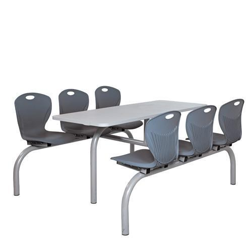 Canteen table with 4 or 6 fixed chairs canteen furniture for Table 6 fixed costs