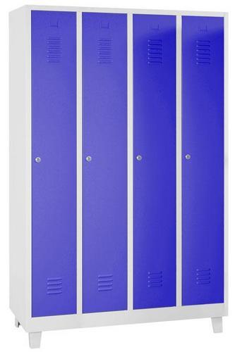 Storage Lockers - 4 Nest with Feet Grey Body & Cylinder Lock - 1900x1170x500mm