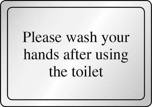 Not washing your hands after using the bathroom