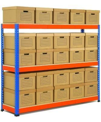 Rapid 1 Heavy Duty Shelving with Archive Boxes