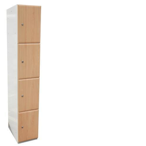 Wood Effect Laminate Lockers 4 Door - 1800x380x380mm