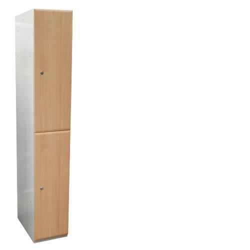Wood Effect Laminate Lockers 2 Door - 1800x380x380mm