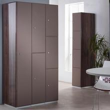 Grey/Brown locker doors with Graphite Gloss end panels